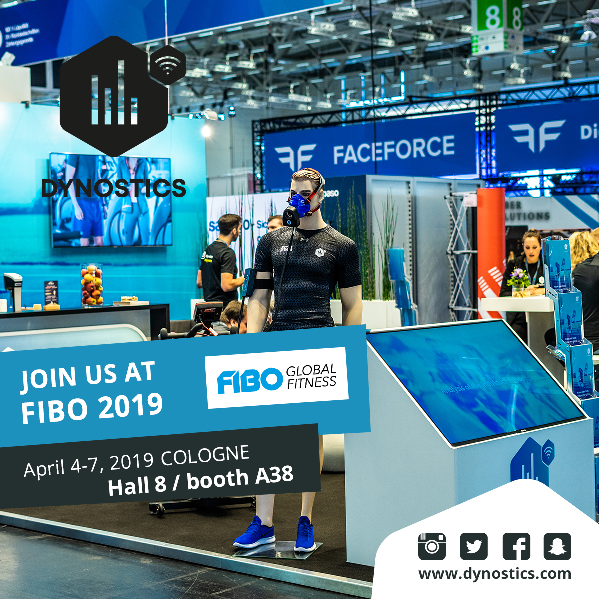 DYNOSTICS at the FIBO 2019 in Cologne from April 4-7 - Hall 8/A38
